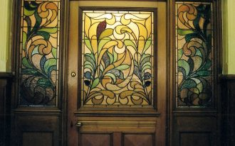 Classic style glass panel for interior door