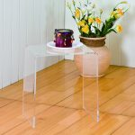Clear acrylic nesting table idea