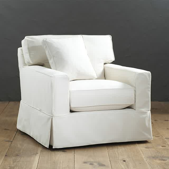 Incroyable Club Chair Slipcover In White Color