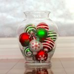 Colorful Christmas balls as the vase filler made of glass