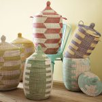 Colorful Senegalese Storage Baskets Design Idea