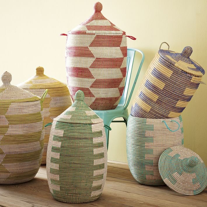 Colorful Senegalese Storage Baskets Design Idea