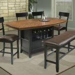 Comfortable Dining Room High Top Table Sets With Bench And Storage Place