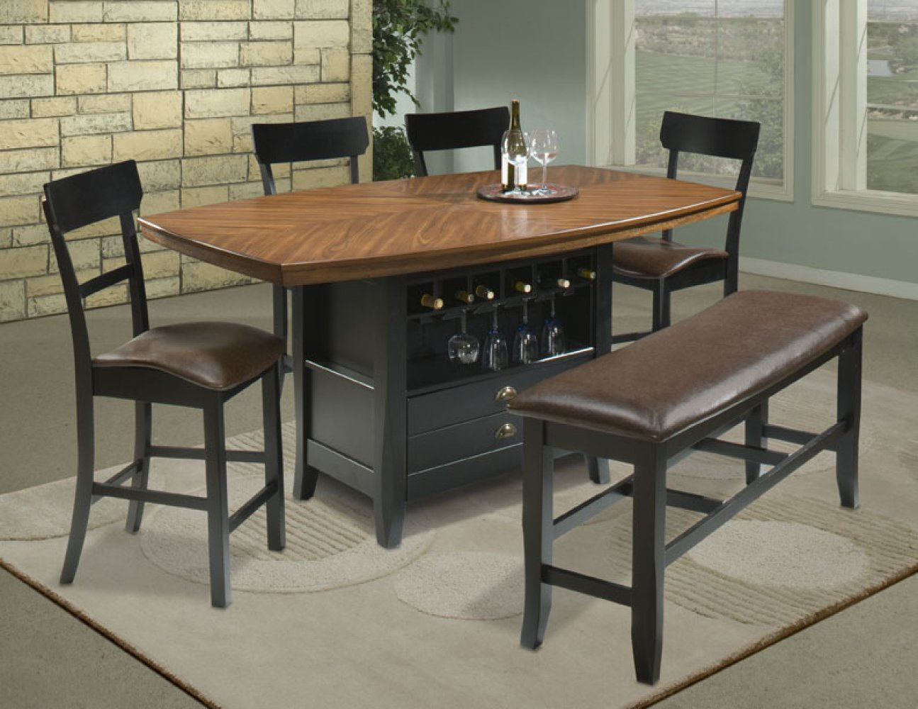 High top table sets homesfeed for Comfortable dining room