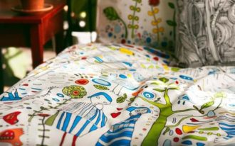Comforter cover idea from IKEA with unique and colorful pattern