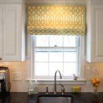 Contemporary Window Valances For Kitchen Windows Between White Kitchen Cabinet