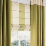 Contemporary Window Valances With White And Green Color