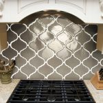 Cool Beveled Arabesque Tile On Kitchen Backsplash