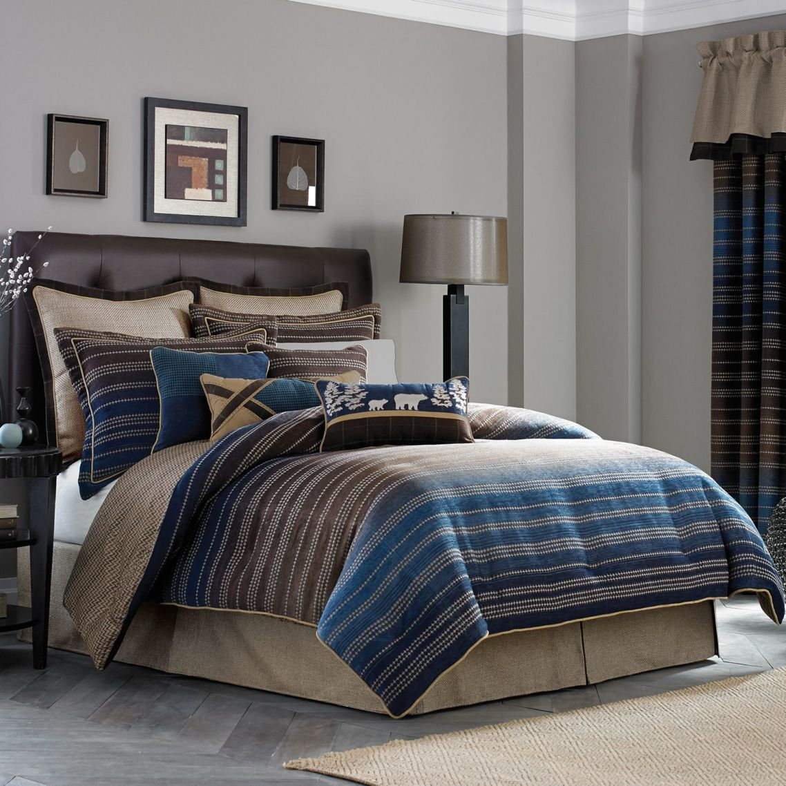 cool comforter sets  homesfeed - cool comforter sets for guys with simple stripped design