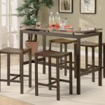 Cool Pub Tables And Stools With 5 Pieces Wooden Set
