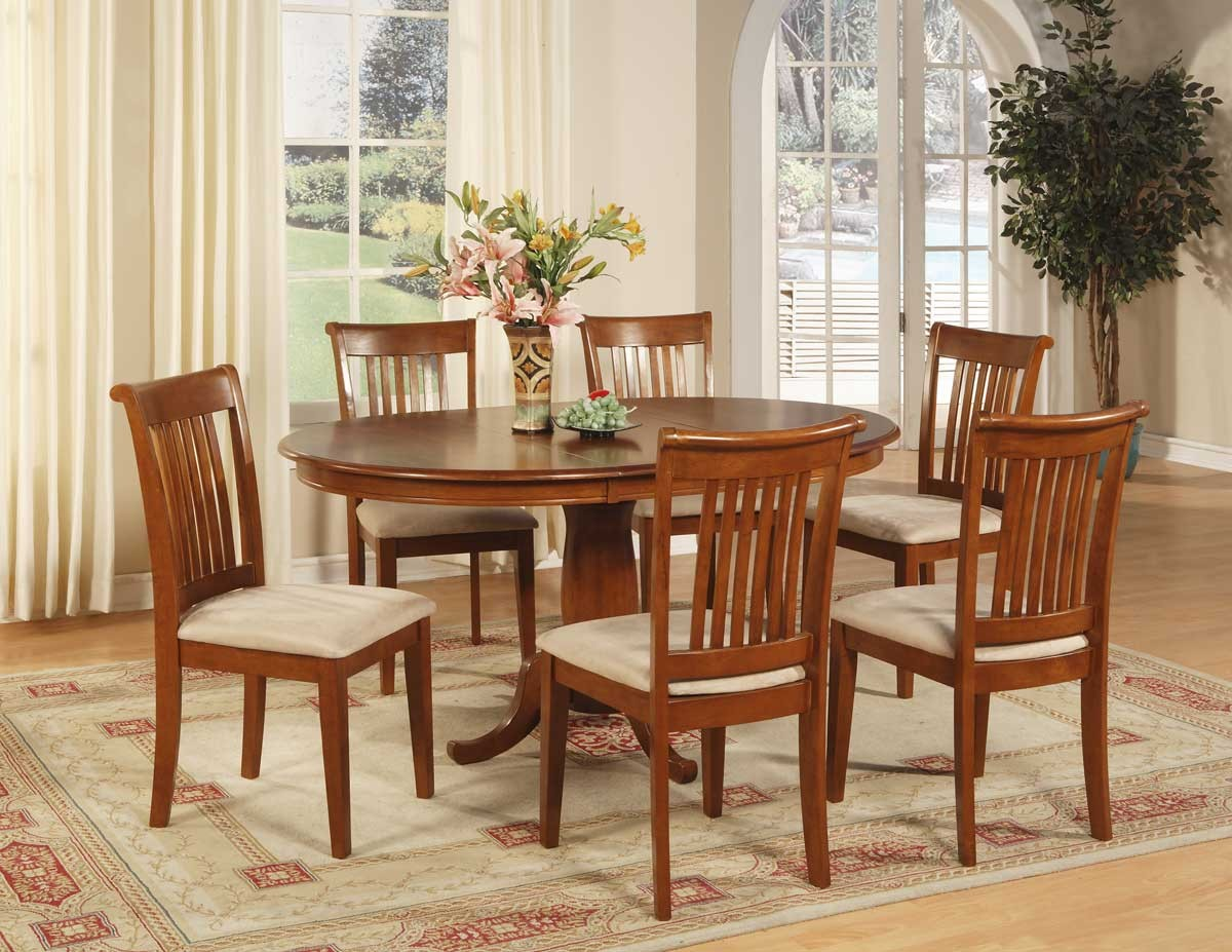 Round Dining Table Set For 6 round dining table set with leaf | homesfeed