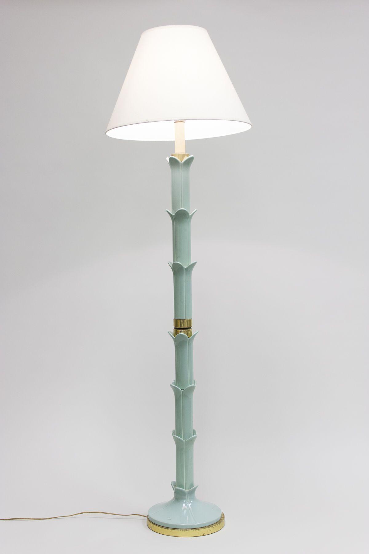 Turquoise floor lamp homesfeed for Kirklands turquoise floor lamp