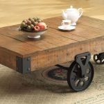 Cool shabby coffee table with casters