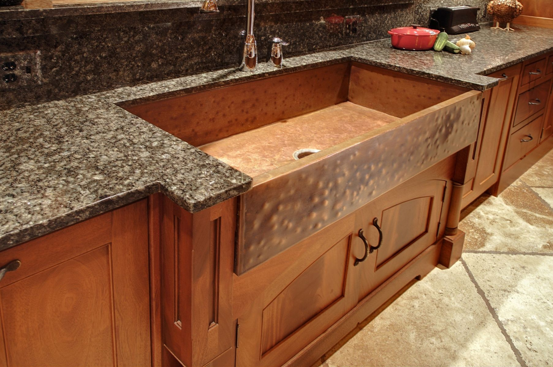 spanish made custom drop copper undermount artisan in sink kitchen products