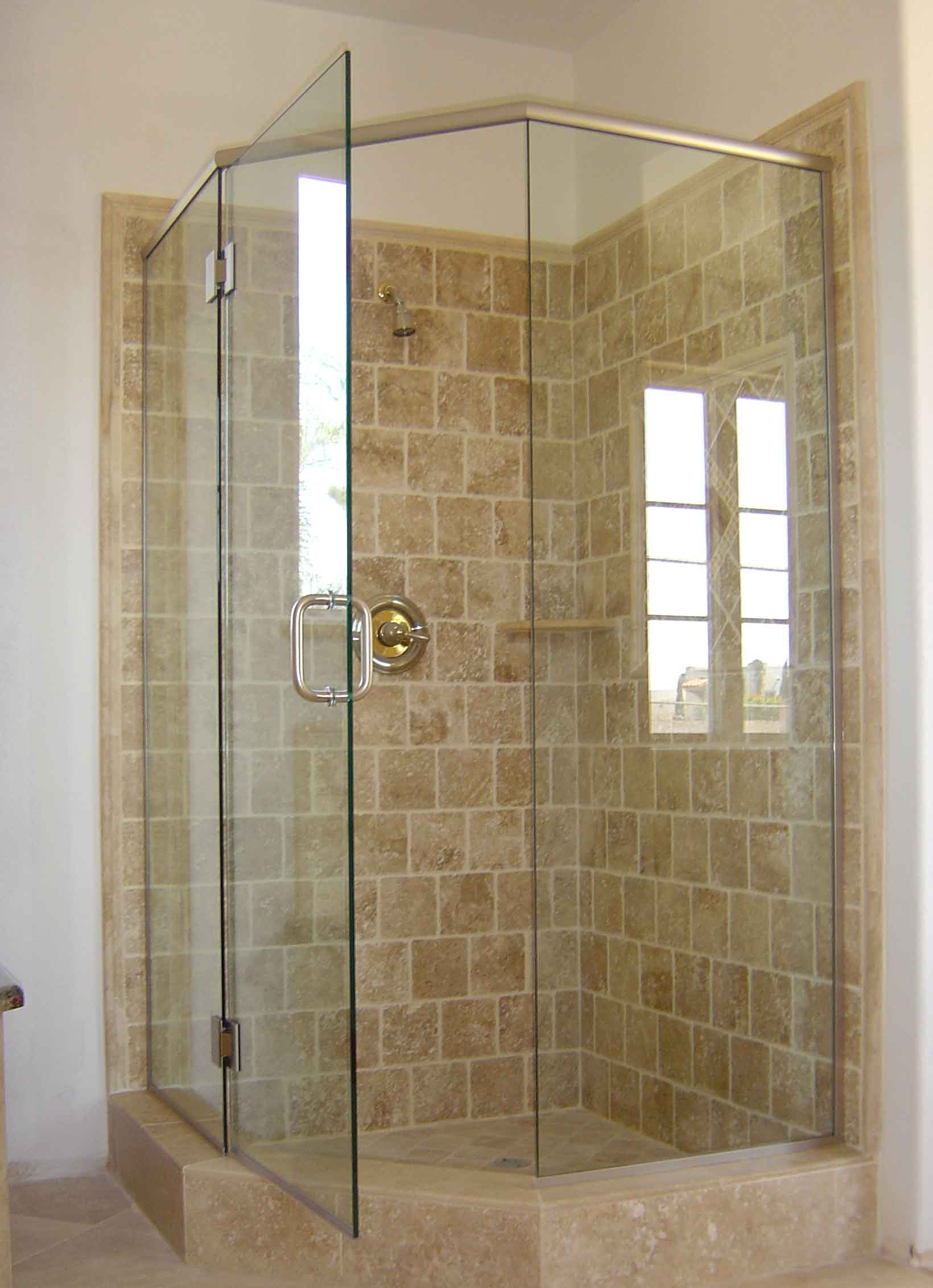 Corner shower units homesfeed for Bathroom door ideas