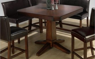 Corner dark leather bench kitchen table set idea