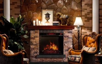 Corvus-Stacked-Stone-Mantel-Electric-Flame-Fireplace-with-metal-and-oak-and-faux-stone-materials-in-classic-style-also-offers-elegant-stacked-stone-mantel