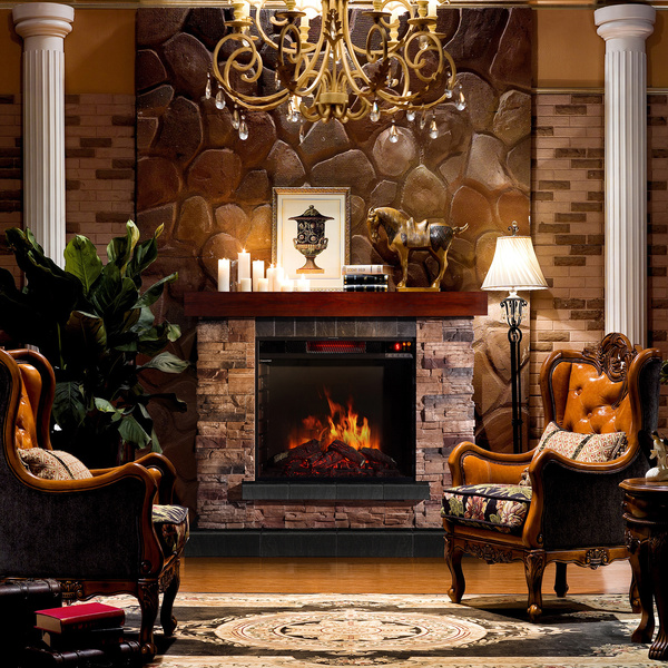 Faux Stone Electric Fireplace and Its Advantages