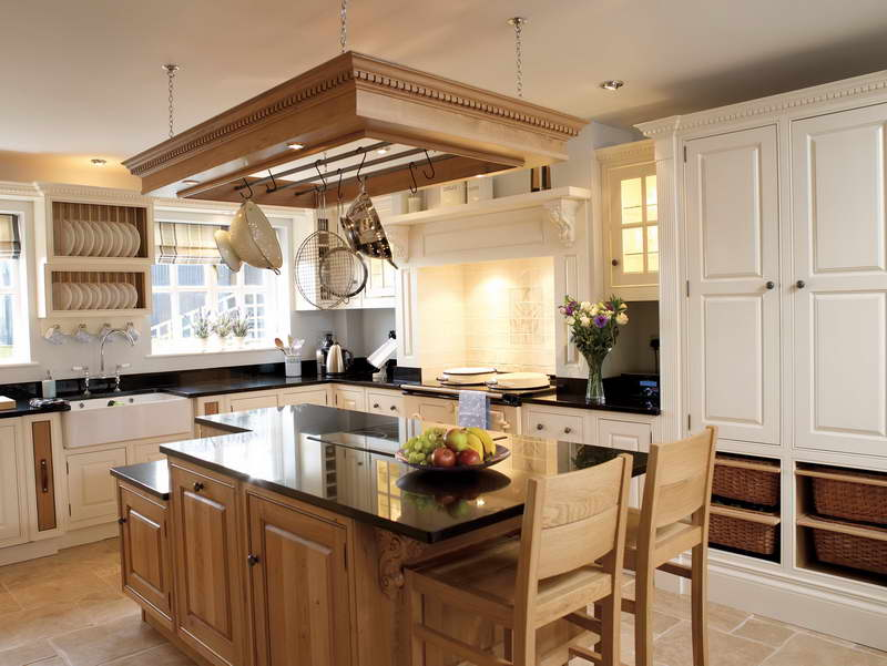 country kitchen makeovers on a budget with wooden kitchen island and