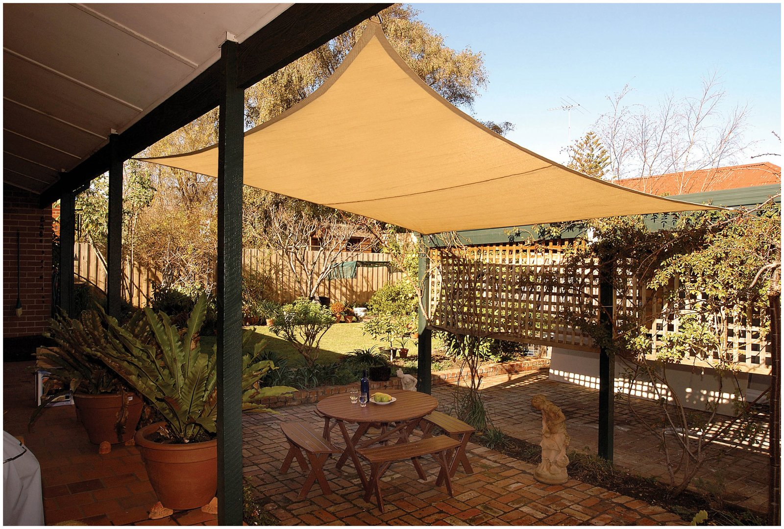 Diy Shade Sail Simple Practical And Remended Protection For