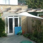 DIY Shade Sail In White Color