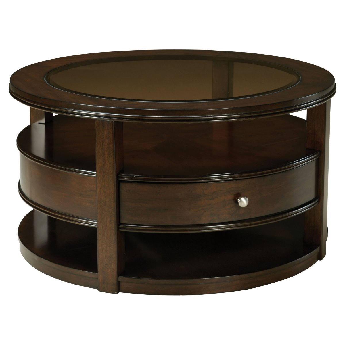 Dark Wooden Round Coffee Tables With Storage Drawers. Round Coffee Tables with Storage   HomesFeed