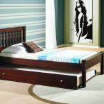 Day Bed Of Trundle Beds For Children With White Mattress And Brown White Pillows