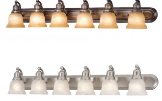 Double Different Design Of 6 Light Vanity Fixture