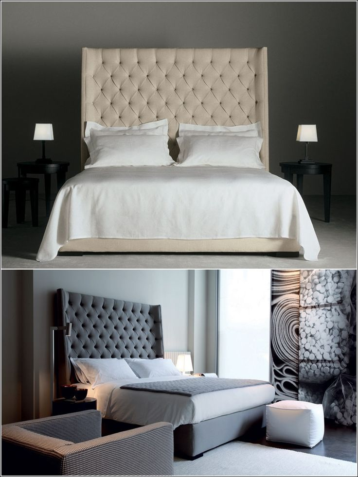 Tall Upholstered Bed | HomesFeed