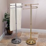 Double Free Standing Towel Racks With Different Colors