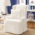 Elegant Slip Cover For Chair With White Pillow
