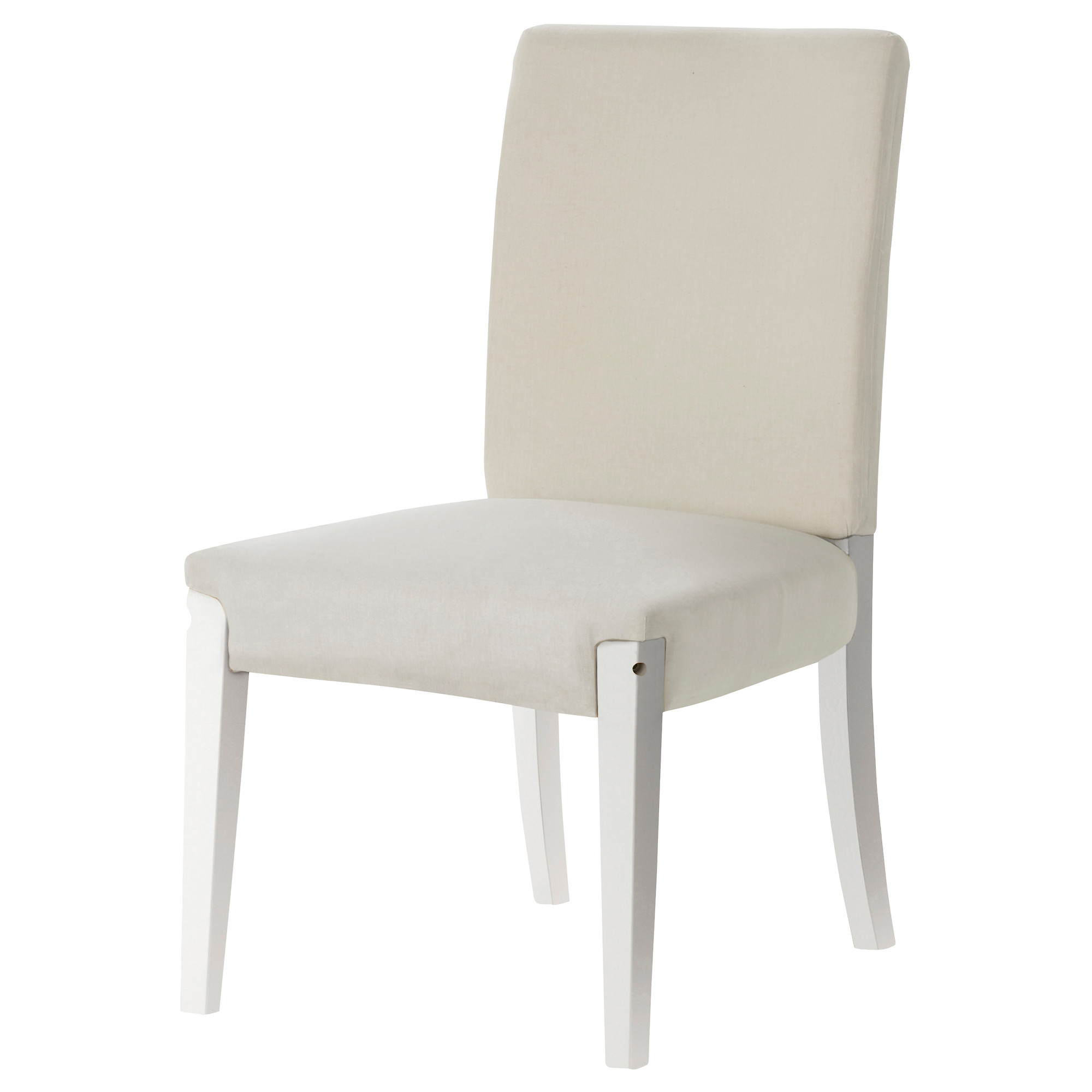 White upholstered dining chair homesfeed for White chair