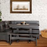 Elegant And Luxurious Black Finished Wood Corner Bench Kitchen Set With Additonal Bench And Table