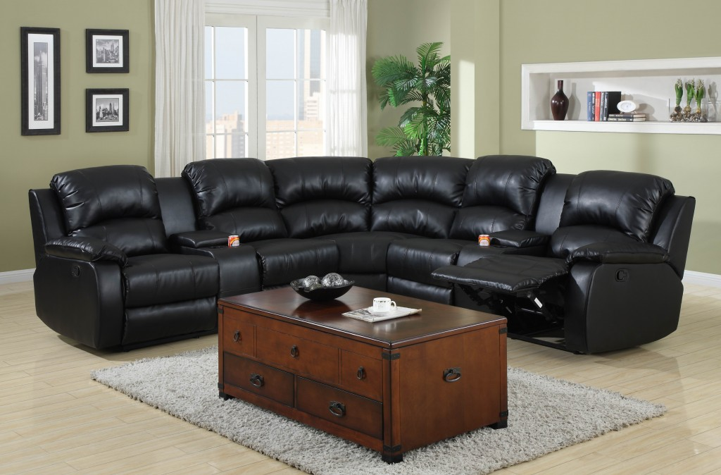 chaise zoom sectional with recliner florence black storage a pu color drawer and