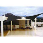 Elegant Black Shade Sail Idea From DIY For Modern Home Patio