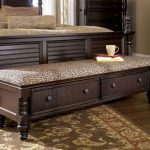 End Of Bed Storage Bench With Cheetah Pattern