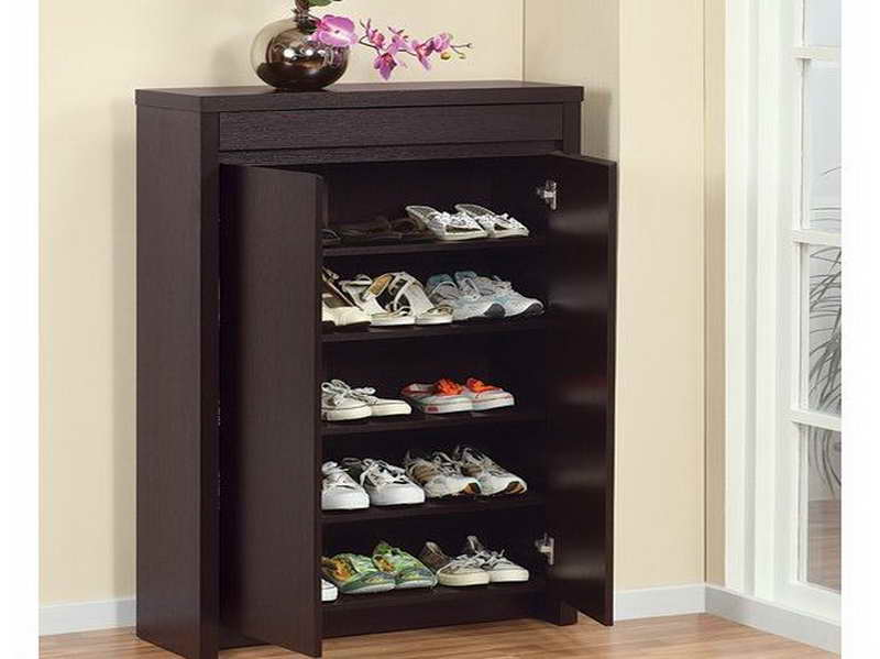 Entryway shoe storage ideas homesfeed - Shoe storage ideas small space image ...