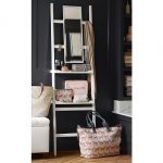 FIONA-LEANING-VANITY-an-elegance-ladder-shelf-crafted-of-mahogany-with-plywood-shelves-and-painted-finish-includes-two-shelves-and-fitted-with-mirror