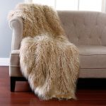 Faux Fur Blanket Queen On Sofa