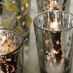 Four series of mercury glass for candlesticks