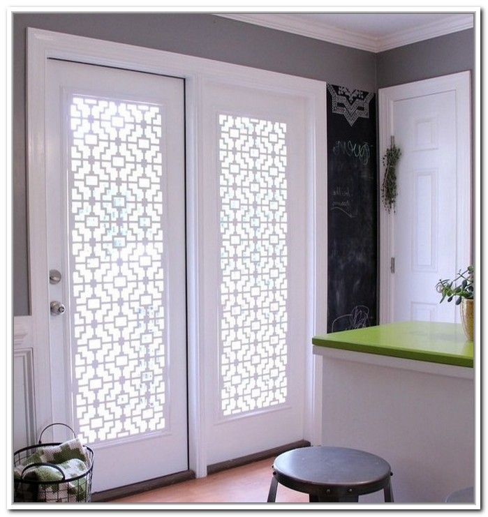 Glass door coverings homesfeed for Door covering ideas