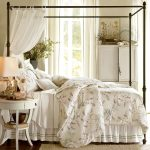 Fresh Iron Canopy Bed Frame With Minimalist Size On Pretty Bed