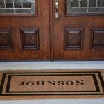 Front Double Door Mat With Double Decorative Plants