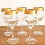 Gold-Rimmed-Wine-Glasses-Greek-Key-a-fabulous-vintage-wine-glasses-feature-a-greek-key-design-with-set-of-five-wine-glasses-at-etsy