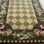 Green Rooster Kitchen Rugs Flooring Area