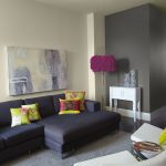 Grey Living Room Colour Schemes On Sofa And Wall Paint