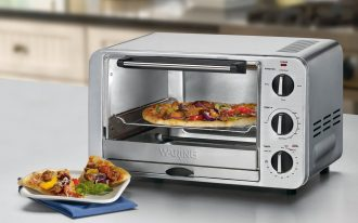 Grey Metal Modern Small Stove Oven