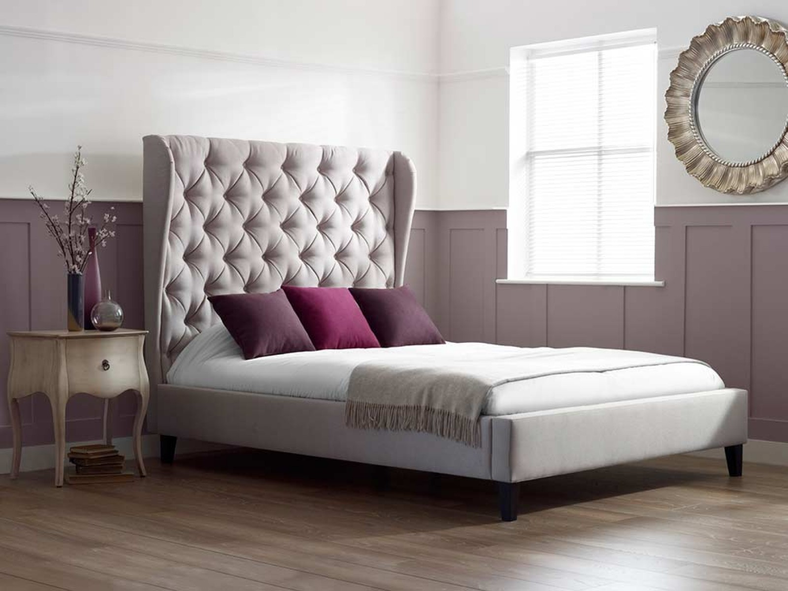 Tall upholstered bed homesfeed for Bedroom ideas with sofa bed