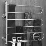Hafele-Tie-rack-with-wall-mounted-flanges-and-90-degree-pivoting-range-that-swings-away-from-wall-also-made-of-chrome-plated-steel-with-zinc-die-cast