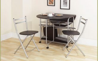 Half Moon Table Of Space Saver Dining Set Wit Double Chair